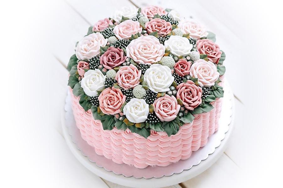 Торт Цветочная корзина