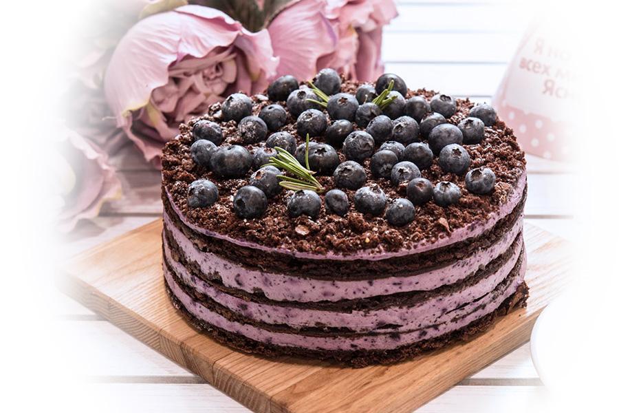 Торт Шоколадно-голубичный