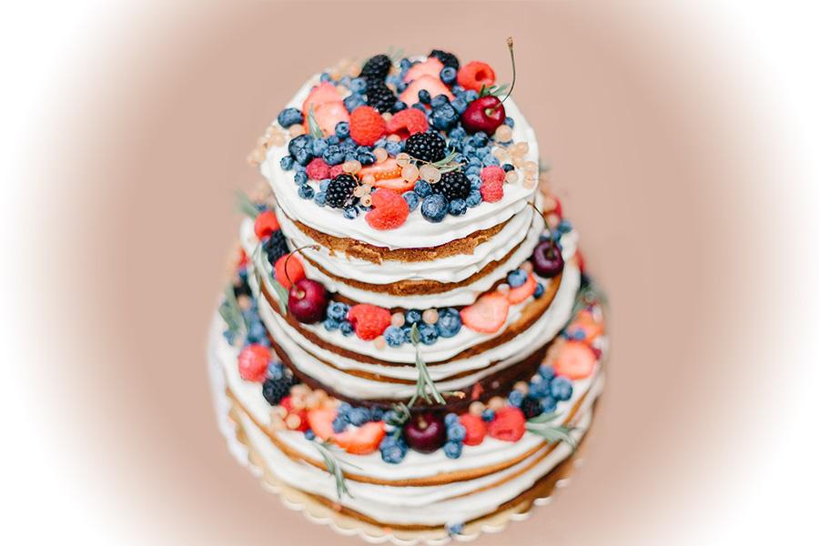 Торт Свадебный фруктовый