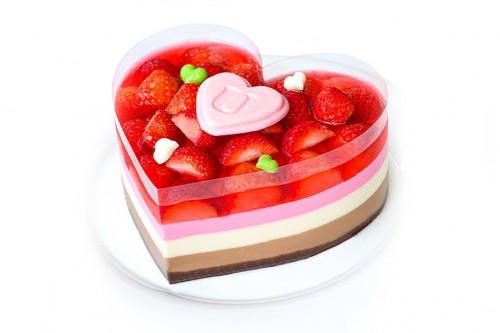 Торт Сердце желейный
