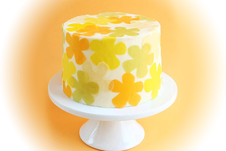 Торт Фруктовые цветы
