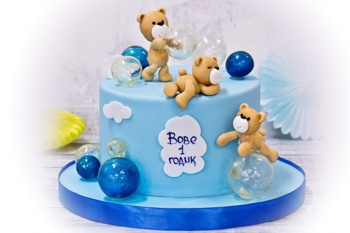 Торт Мишки с шарами