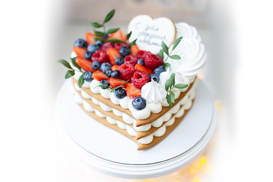 Торт Фруктовое сердце