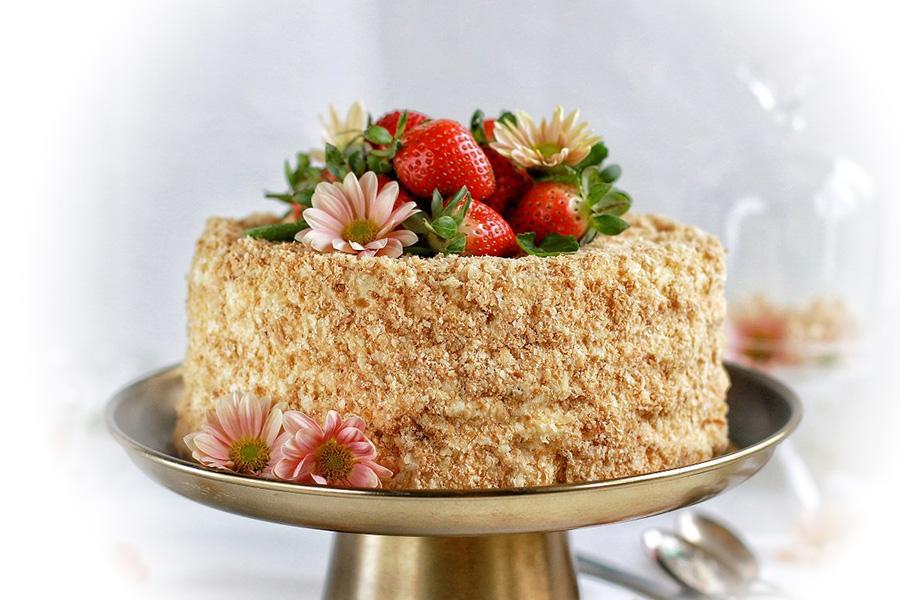 Торт Клубничный наполеон