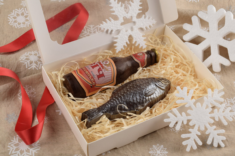 Шоколадный набор Рыба и бутылка