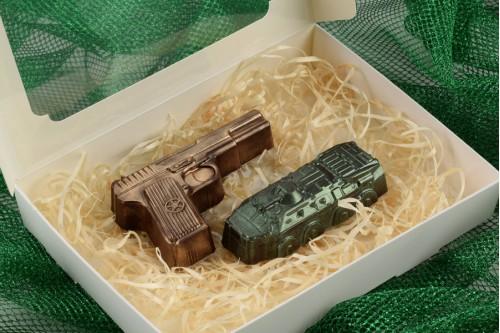 Шоколадный набор Пистолет и БТР