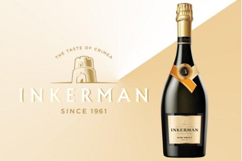 Шампанское Инкерман полусладкое белое