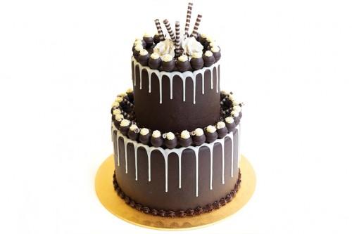 Торт Свадебный шоколадный