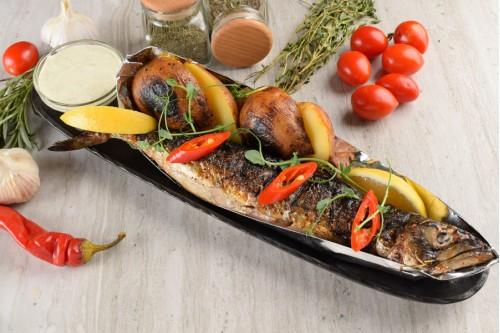Скумбрия на углях (весовое блюдо)
