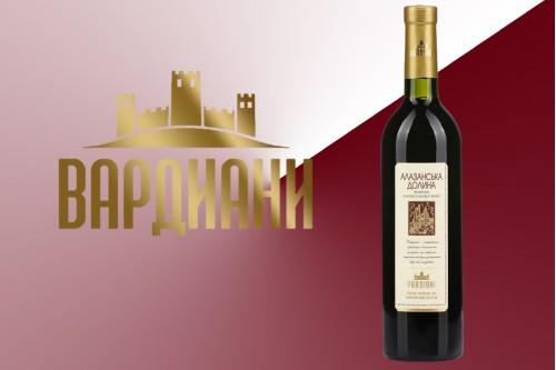 Вино красное Алазанская долина полусладкое
