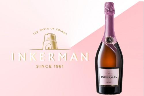 Шампанское Инкерман розовое полусладкое